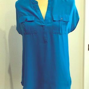 INC ladies blue shirt